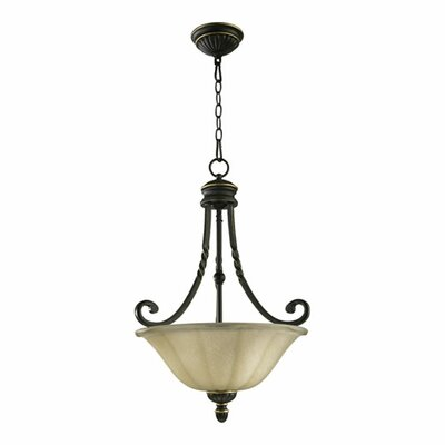Quorum Tribeca 3 Light Inverted Pendant