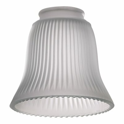 Quorum Frost Ribbed Bell Glass Shade for Ceiling Fan Light Kit