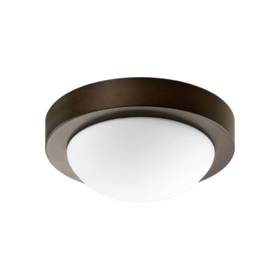 Quorum One Light Ceiling Fan in Oiled Bronze