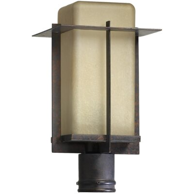 Quorum McKee One Light Outdoor Post Lantern in Toasted Sienna