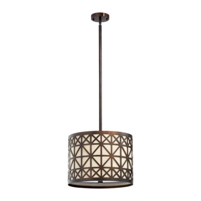 Quorum Celest 3 Light Drum Pendant