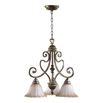 Quorum Summerset 3 Light Nook Chandelier