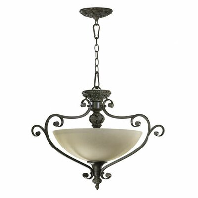 Quorum Fulton 3 Light Dual Mount Inverted Pendant
