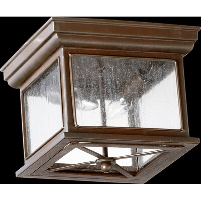 Quorum Magnolia 2 Light Outdoor Flush Mount