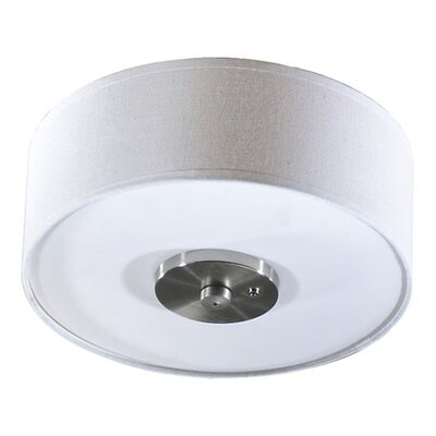 Quorum 3 Light Fabric Drum Ceiling Fan Light Kit