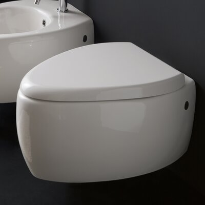 Scarabeo by Nameeks Moai Wall Mount Elongated 1 Piece Toilet