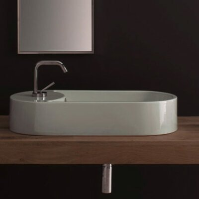 Scarabeo by Nameeks Seventy 41 Above Counter Single Hole Bathroom Sink in White