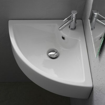 Scarabeo by Nameeks Wall Mounted Corner Bathroom Sink