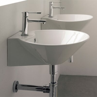 Scarabeo by Nameeks Cono Wall Mounted Bathroom Sink