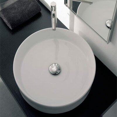Scarabeo by Nameeks Geo Above Counter Bathroom Sink in White
