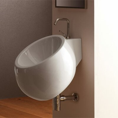 Scarabeo by Nameeks Planet 45 Wall Mounted Bathroom Sink in White