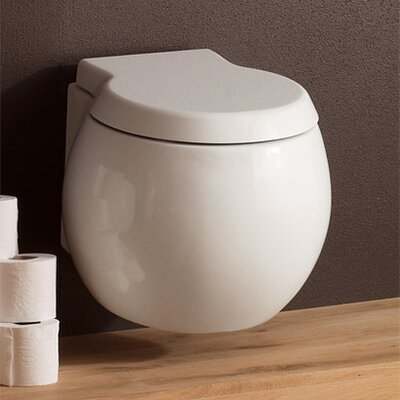 Scarabeo by Nameeks Planet Wall Mounted Round 1 Piece Toilet