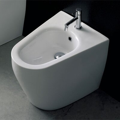"Scarabeo by Nameeks Tizi 15.7"" Elongated Floor Mount Bidet"