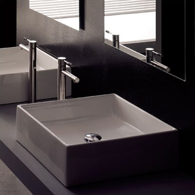 Scarabeo by Nameeks Teorema Above Counter Bathroom Sink
