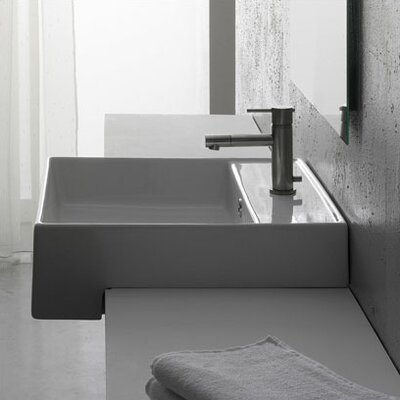 Scarabeo by Nameeks Teorema Semi Recessed Single Hole Bathroom Sink