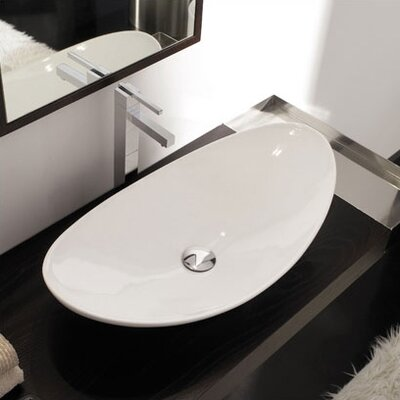 Scarabeo by Nameeks Zefiro 70 Above Counter Bathroom Sink in White