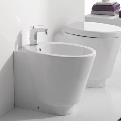 "Scarabeo by Nameeks Wish 13.8"" Floor Mount Bidet"