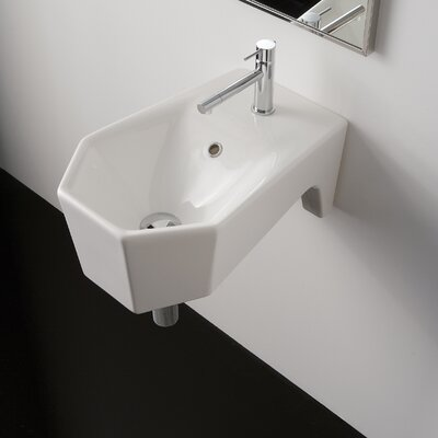 Bijoux Geometric Wall Mount Bathroom Sink - Bijoux ART 8501