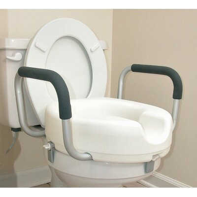 Briggs Healthcare Raised Locking Toilet Seat with Arms