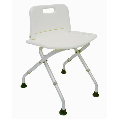 Briggs Healthcare Adjustable Folding Bath Seat with Back Rest