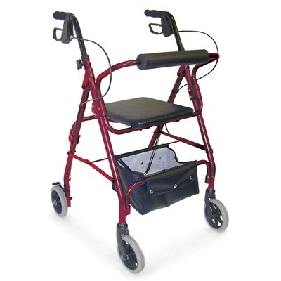 Briggs Healthcare Adjustable Seat Height Aluminum Rollator