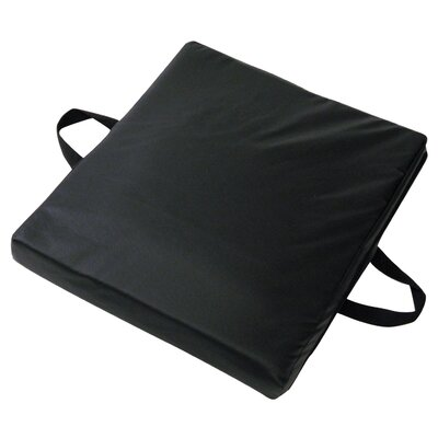 Gel / Foam Flotation Cushion with Velour Cover in Gray