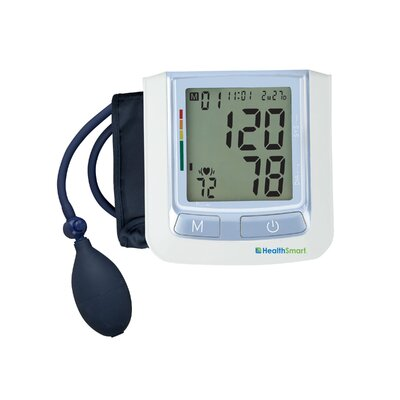 Healthsmart Standard Semi-Automatic Digital Blood Pressure Monitor in Blue