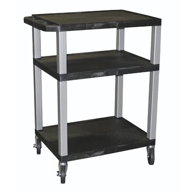 "H. Wilson Company Tuffy 34"" Open Shelf AV Cart with Legs"