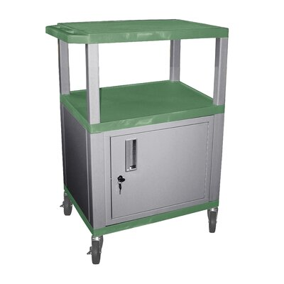 "H. Wilson Company Tuffy 34"" Utility AV Cart with Cabinet"