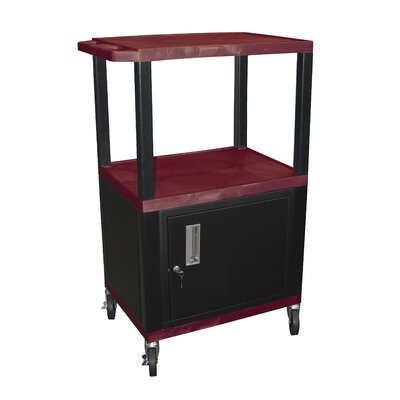 "H. Wilson Company Tuffy 42"" Utility AV Cart with Cabinet"
