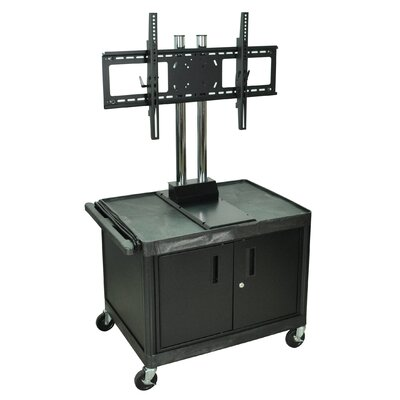 "H. Wilson Company Tuffy 47"" Mobile Flat Panel TV Cart with Locking Cabinet (For Screens 32""-60"")"