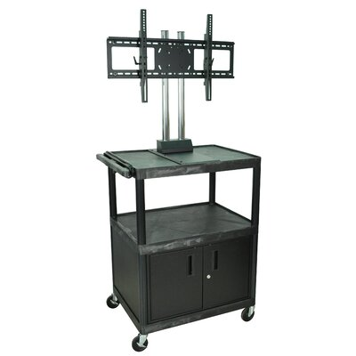 "H. Wilson Company Tuffy 44"" Mobile Flat Panel TV Cart with Locking Cabinet"