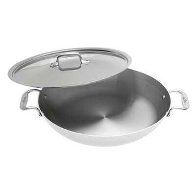 "All-Clad Stainless 13"" Paella Pan with Lid"