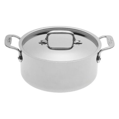 Stainless Steel Round Casserole with Lid