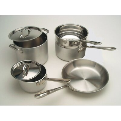 Master Chef 3-Ply Brushed Aluminum 7-Piece Cookware Set
