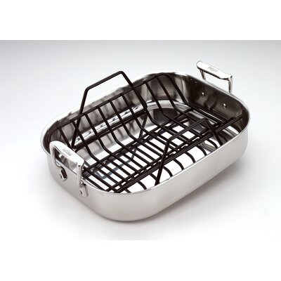 All-Clad Stainless Steel Petite Roasting Pan with Rack