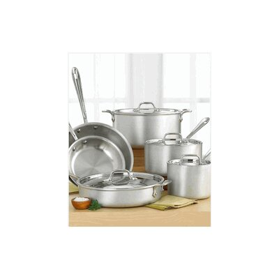 Master Chef MC2 3-Ply Brushed Aluminum 10-Piece Cookware Set