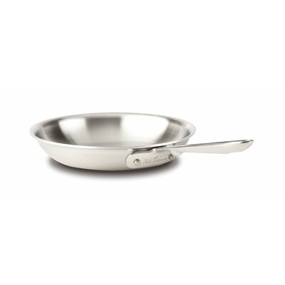 d5 Brushed Stainless Steel Fry Pan