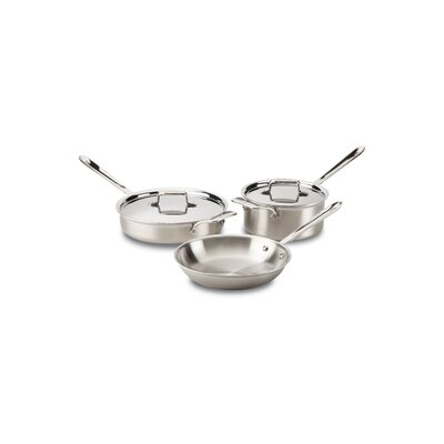 d5 Brushed Stainless Steel 5-Piece Pan