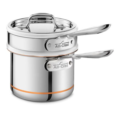 Copper Core Double Boiler with Sauce Pan