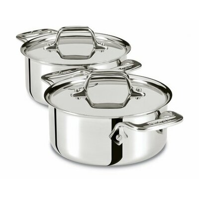 All-Clad 0.5-qt. Cocottes with Lids (Set of 2)