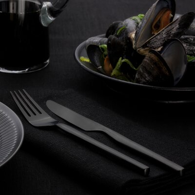 Dorotea Night 4 Piece Table Fork and Table Knife Set