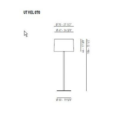Axo Light Lightecture Velvet Floor Lamp