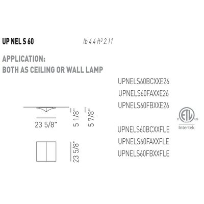 Axo Light Nelly Straight Ceiling Light