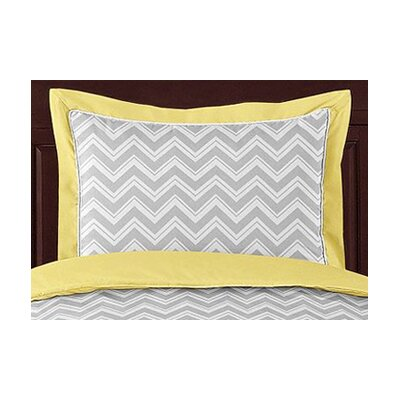 <strong>Sweet Jojo Designs</strong> Zig Zag Yellow and Gray Standard Pillow Sham