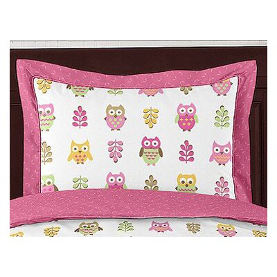 Sweet Jojo Designs Happy Owl Standard Pillow Sham