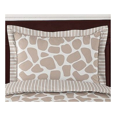 Sweet Jojo Designs Giraffe Standard Pillow Sham