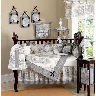 Sweet Jojo Designs Black Toile Collection 9pc Crib Bedding Set