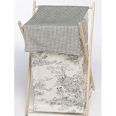Sweet Jojo Designs Black Toile Laundry Hamper