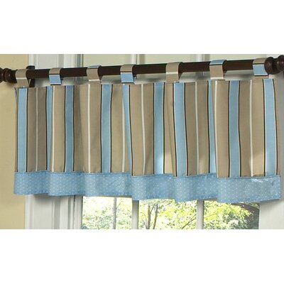 Sweet Jojo Designs Mod Dots Cotton Tab Top Tailored Curtain Valance